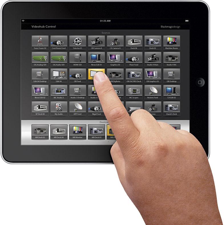 Blackmagic Universal Videohub 288 iPad