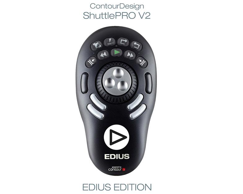 ContourDesign ShuttlePRO V2 v designu programu EDIUS