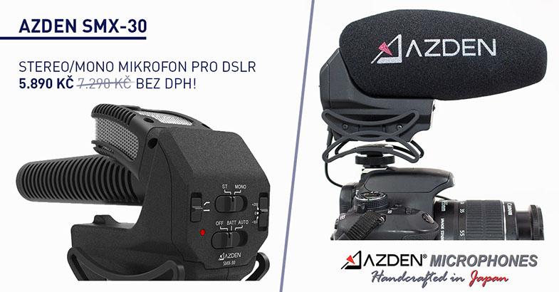 Azden SMX-30 DSLM DSLR mikrofon stereo mono puska shotgun