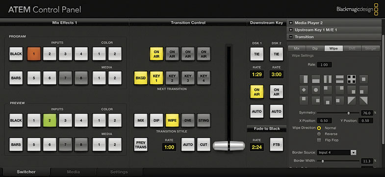 Blackmagic Design ATEM Control Panel