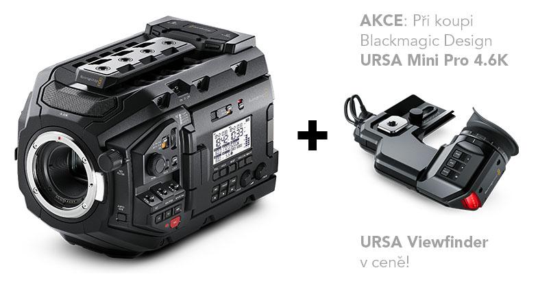 AKCE: URSA Mini Pro 4.6K + URSA Viewfinder v ceně