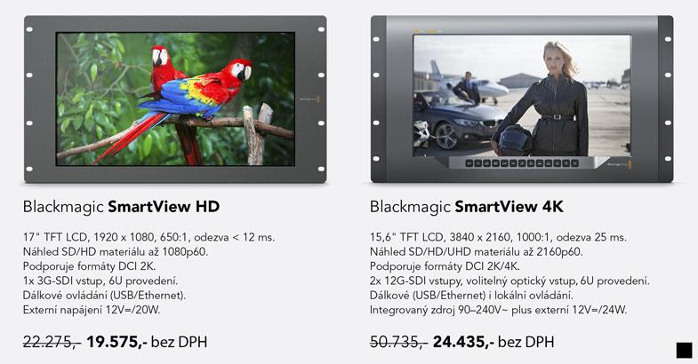 Blackmagic Design SmartView 4K HD sleva lower price zlevnění zľava akcia