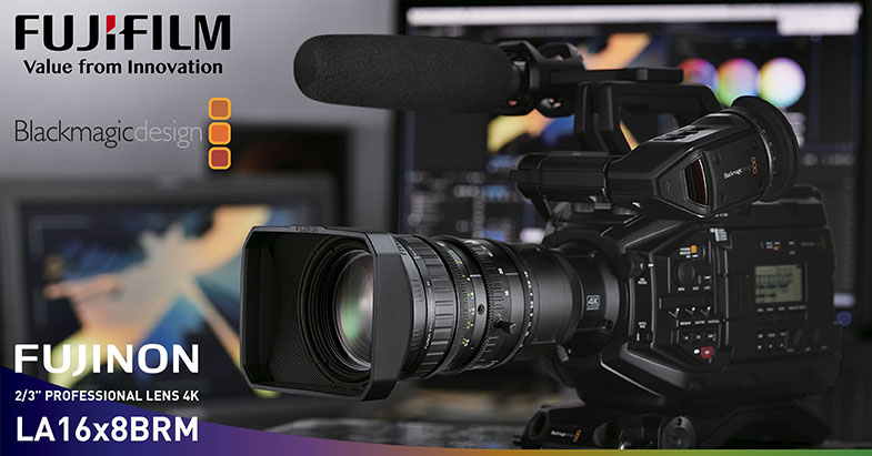 "Fujinon LA16x8BRM 2/3"" 4K 16x Zoom Lens for URSA Broadcast"