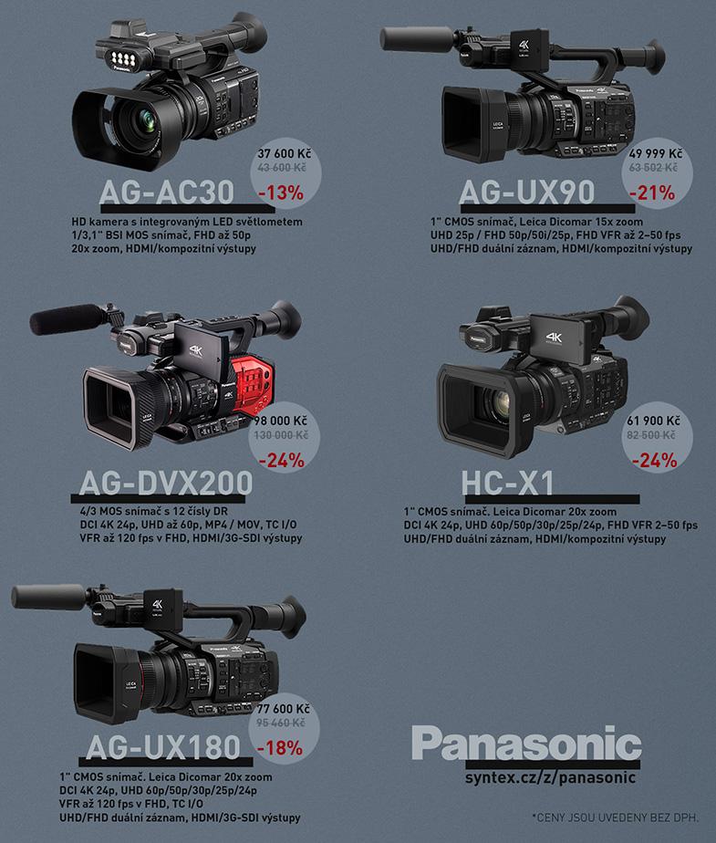 Panasonic HC-X1 AG-DVX200 AG-UX90 AG-UX180 AG-AC30 sleva slevy