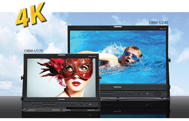 "Postium OBM-U170 (17"") OBM-U240 (24"") 4K 12G-SDI Monitors"
