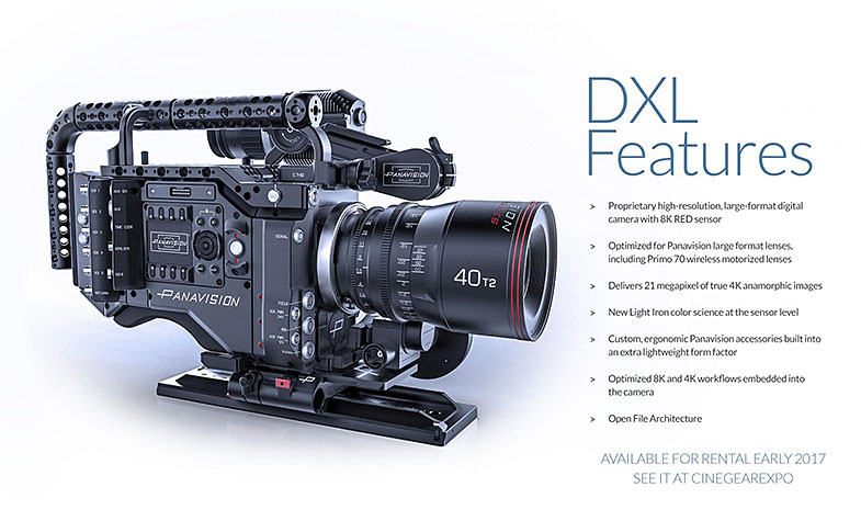 Panavision DXL RED WEAPON 8K