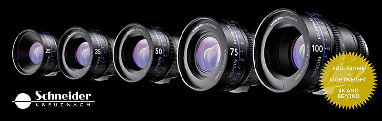 Schneider Xenon FF Prime T2.4/18mm T2.1/25mm, T2.1/35mm, T2.1/50mm, T2.1/75mm T2.1/100mm