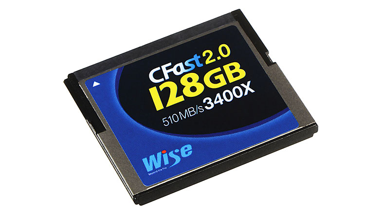 Wise CFast 2.0 128GB 3400x certifikace Blackmagic URSA
