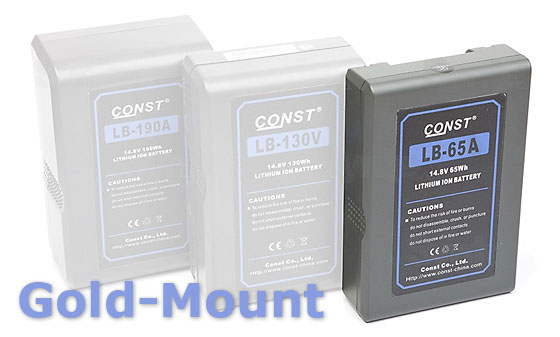 Baterie CONST LB-XXXA Gold Mount / Anton Bauer