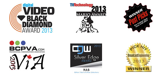 Blackmagic Pocket Cinema Camera 2013 Awards