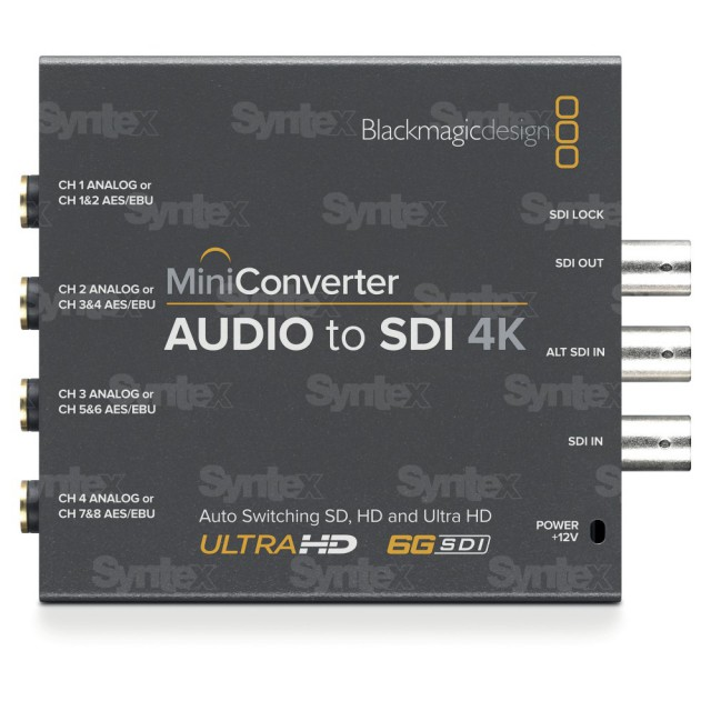 Mini Converter Audio to SDI 4K