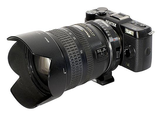 Nikon G to Pentax Q Speed Booster Q666 0.50x