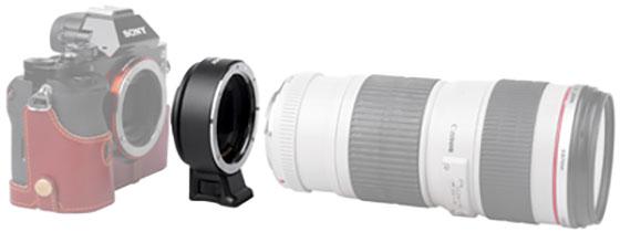 EF-NEX IV (Sony E – Canon EF AF)
