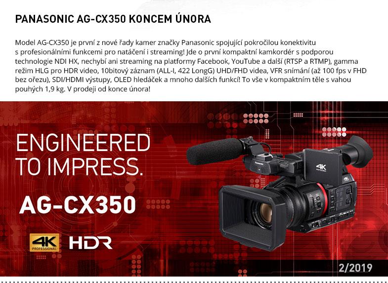 PANASONIC AG-CX350 KONCEM UNORA