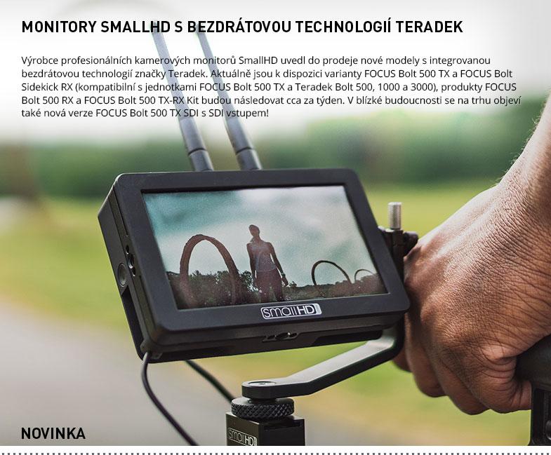 MONITORY SMALLHD S BEZDRATOVOU TECHNOLOGII TERADEK