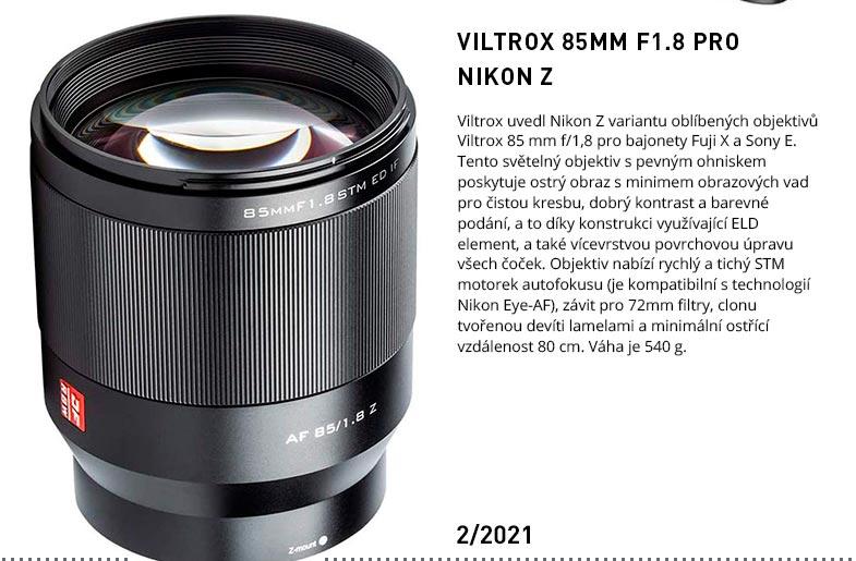 VILTROX 85MM F1.8 PRO NIKON Z