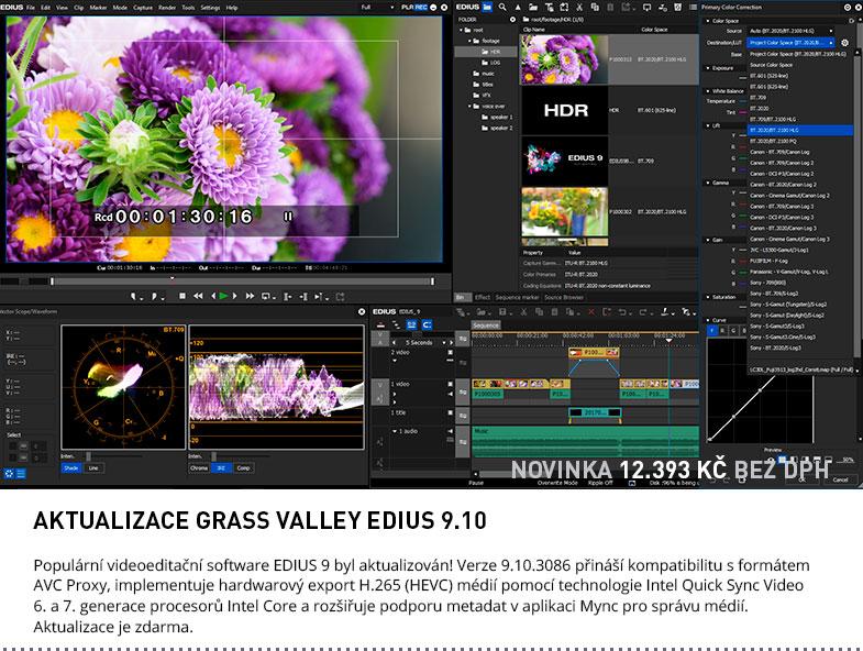 AKTUALIZACE GRASS VALLEY EDIUS 9.10