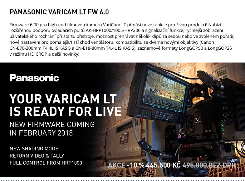PANASONIC VARICAM LT FW 6.0