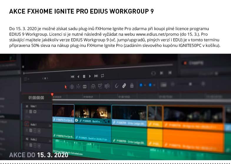 AKCE FXHOME IGNITE PRO EDIUS WORKGROUP 9