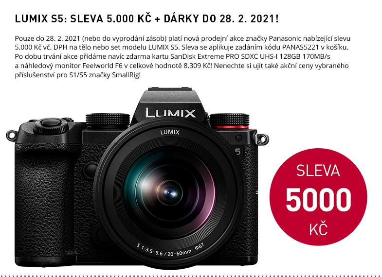 LUMIX S5 SLEVA 5000 VC DPH