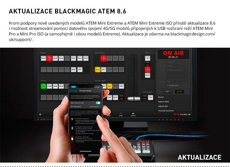 AKTUALIZACE BLACKMAGIC ATEM 8.6