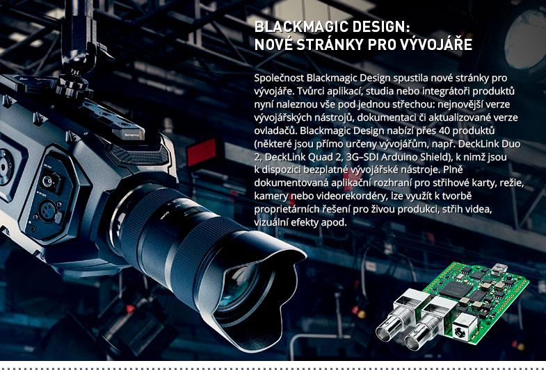 BLACKMAGIC DESIGN DEVELOPER WEB SITE