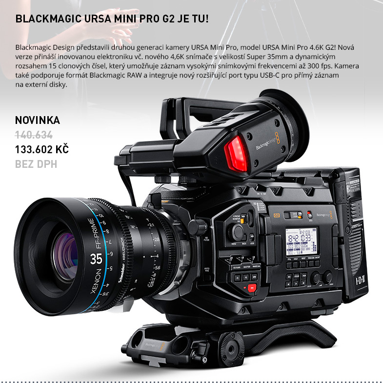 BLACKMAGIC URSA MINI PRO G2 JE TU!