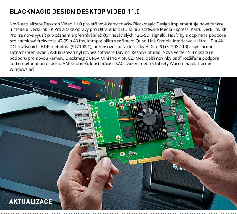 AKTUALIZACE BLACKMAGIC DESIGN DESKTOP VIDEO 11.0