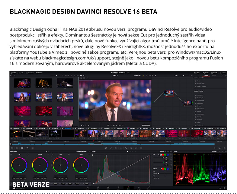 BLACKMAGIC DESIGN DAVINCI RESOLVE 16 BETA