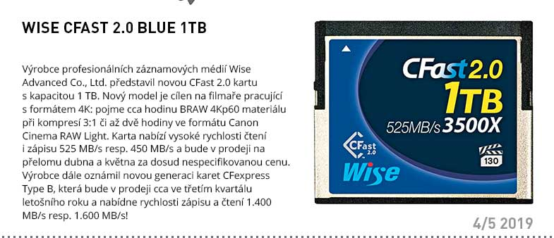 WISE CFAST 2.0 BLUE 1TB