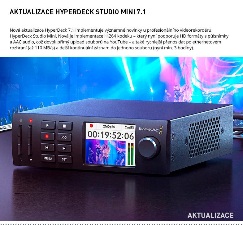AKTUALIZACE HYPERDECK STUDIO MINI 7.1