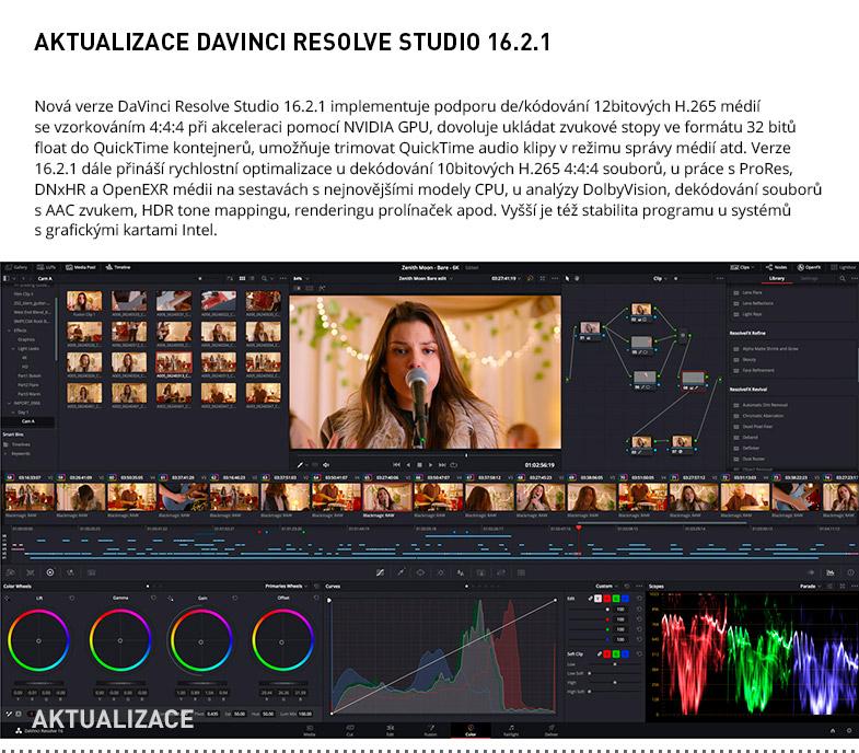 AKTUALIZACE DAVINCI RESOLVE STUDIO 16.2.1