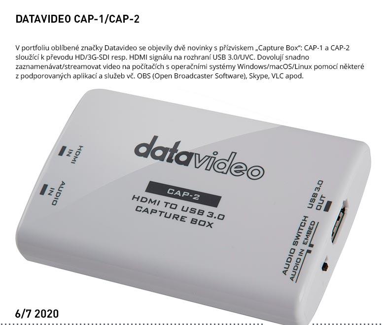 DATAVIDEO CAP-1 CAP-2