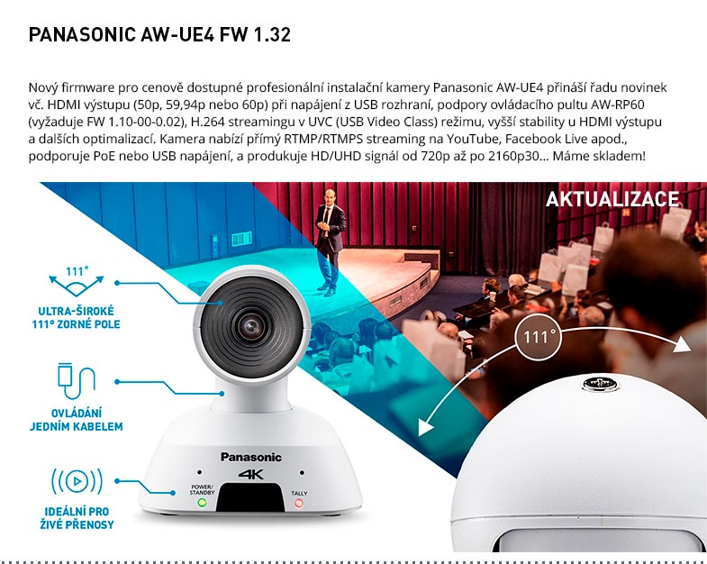 PANASONIC AW-UE4 FW 1.32