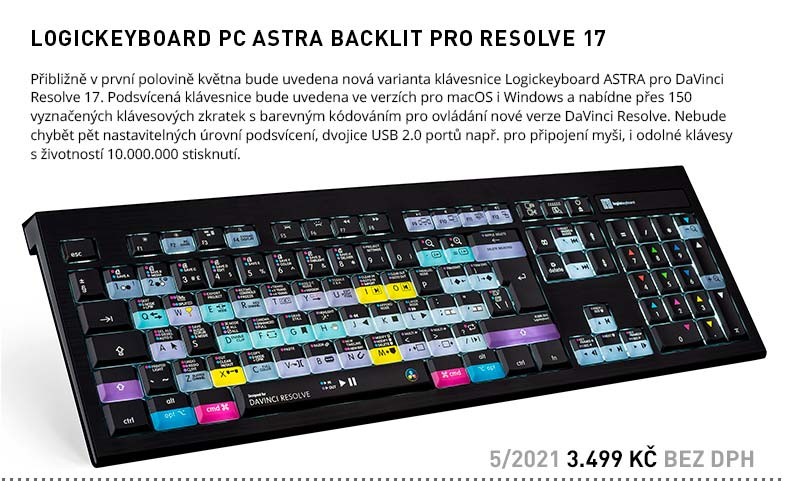 LOGICKEYBOARD PC ASTRA BACKLIT PRO RESOLVE 17