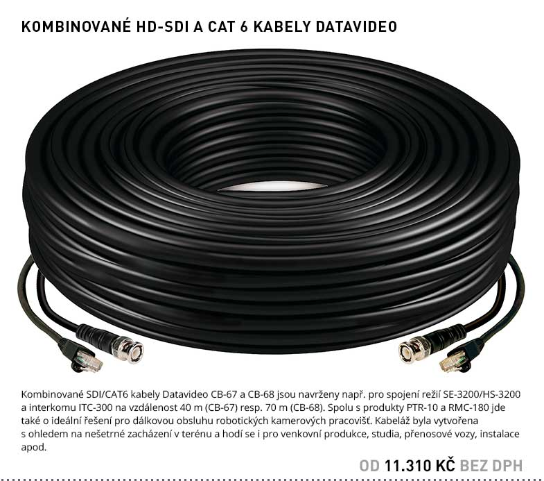 HD-SDI A CAT 6 KABELY DATAVIDEO