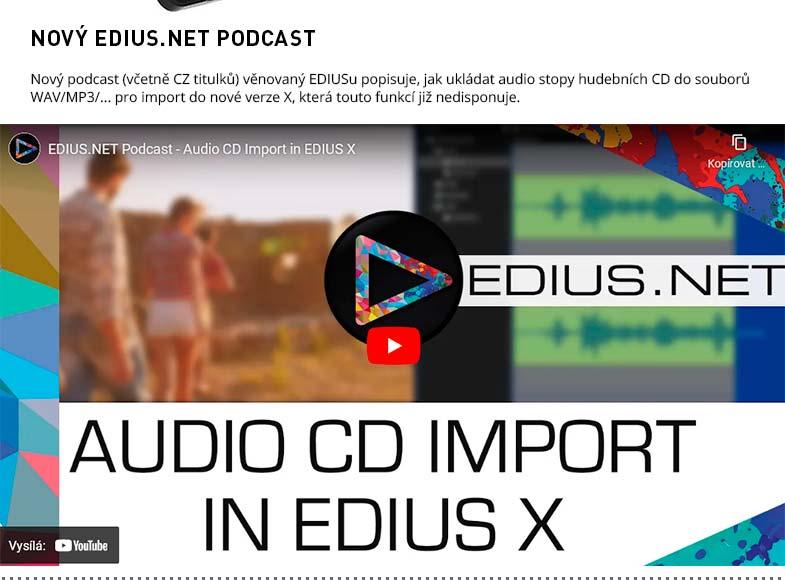 EDIUS.NET PODCAST