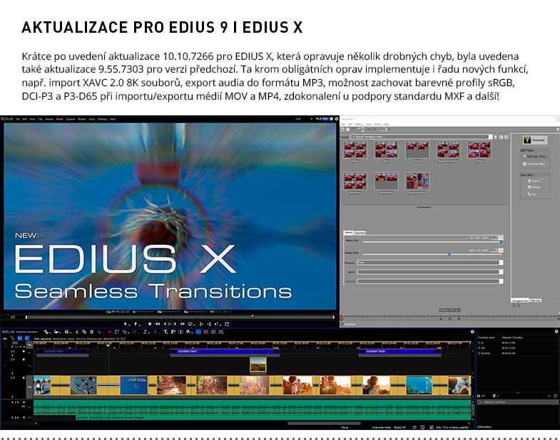AKTUALIZACE PRO EDIUS 9 A X