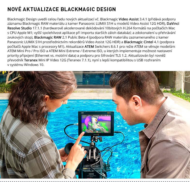 AKTUALIZACE BLACKMAGIC DESIGN