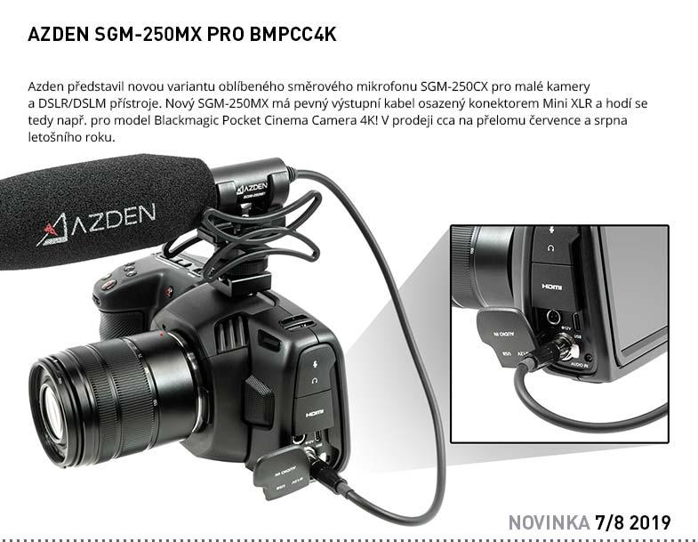 AZDEN SGM-250MX PRO BMPCC4K