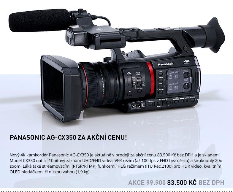 AKCE PANASONIC AG-CX350