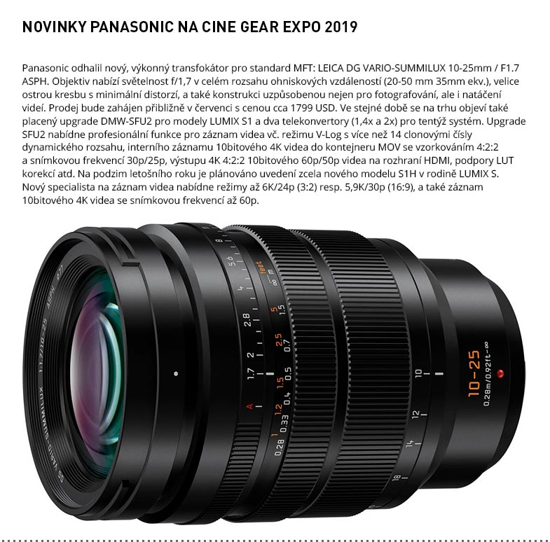 PANASONIC CINE GEAR EXPO 2019