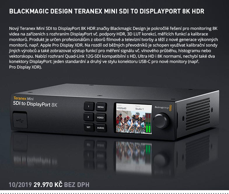 BLACKMAGIC DESIGN TERANEX MINI SDI TO DISPLAYPORT 8K HDR