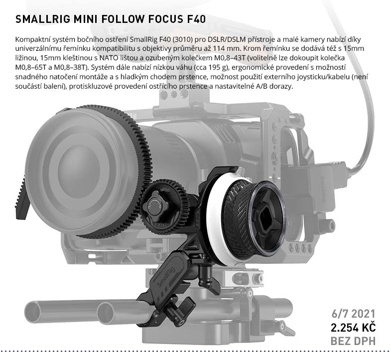 SMALLRIG MINI FOLLOW FOCUS F40