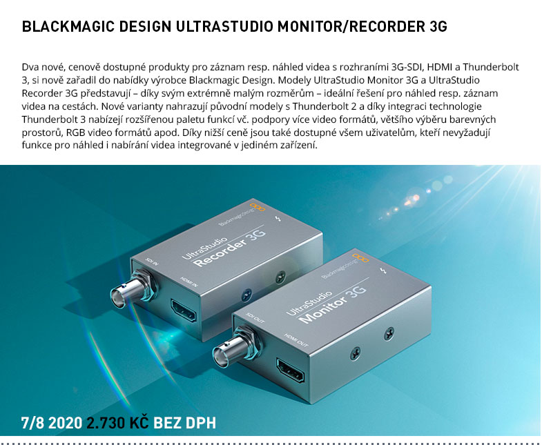ULTRASTUDIO MONITOR RECORDER 3G