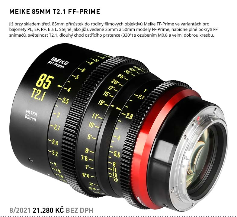 MEIKE 85MM T2.1 FF-PRIME