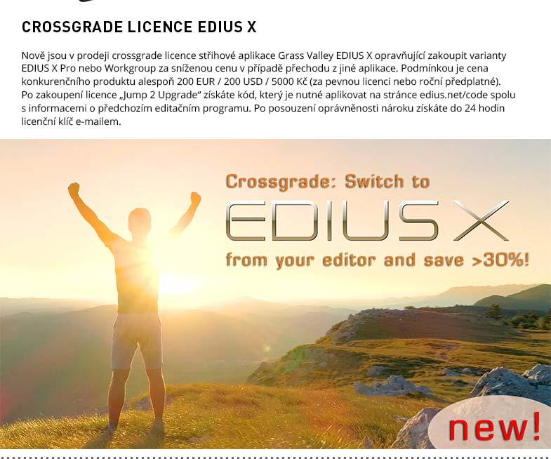 CROSSGRADE LICENCE EDIUS X