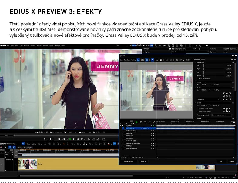 EDIUS X PREVIEW 3 EFEKTY
