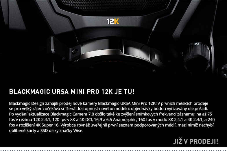 BLACKMAGIC URSA MINI PRO 12K JE TU