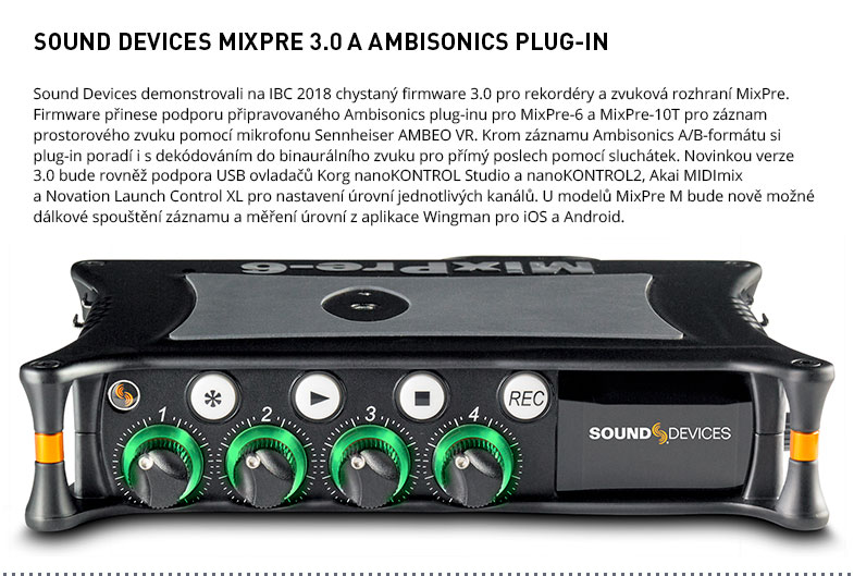 SOUND DEVICES MIXPRE 3.0